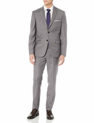 DKNY Men's All Wool Slim Fit Suit
