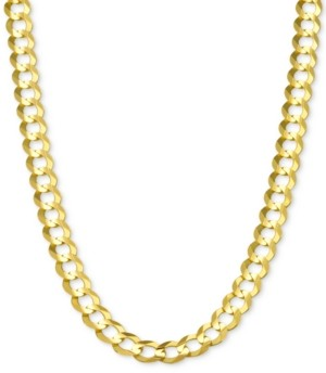 """Italian Gold 20"""" Open Curb Link Chain Necklace in Solid 14k Gold"""