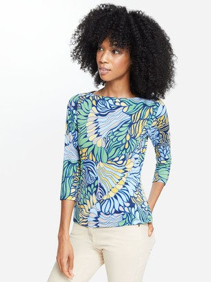 J.Mclaughlin Wavesong Lyford Jersey Tee in Terre Floral