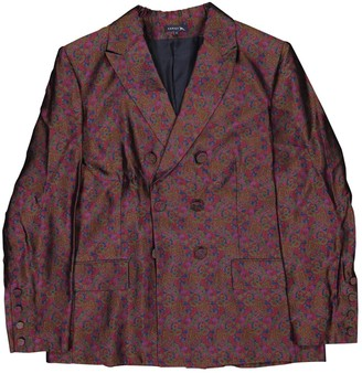 soeur Burgundy Silk Jackets