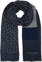 Calvin Klein All Over Logo Scarf