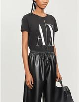 Armani Exchange Logo-print cotton-jersey T-shirt