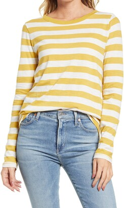 Madewell Whisper Cotton Long Sleeve Ringer T-Shirt