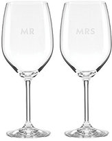Kate Spade Darling Point Mr. & Mrs. Wine Glass Pair