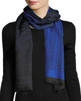 Versace Tonal Maze-Pattern Wool Scarf
