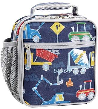 Pottery Barn Kids Mackenzie Navy/Gray Play Construction Lunch Box