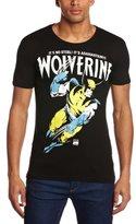 Marvel T-shirt Slim Fit, Wolverine-Adamantium, ,S