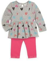 Hartstrings Baby Girl's Two-Piece French Terry Tunic & Leggings Set