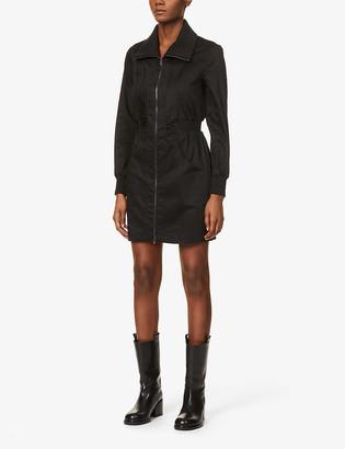 Reiss Greta zip-front stretch-cotton mini dress