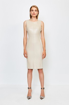 Karen Millen Faux Leather Panelled Dress