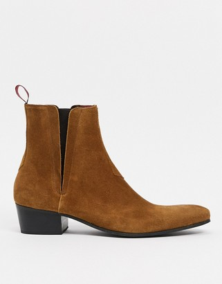Jeffery West carlito chelsea boots in tan suede