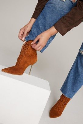 Good American Scandal Bootie | Suede Tobacco007