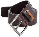 Ted Baker London Highlight Keeper Leather Belt