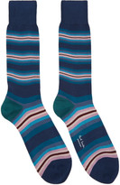 Paul Smith Navy Tiger Stripe Socks