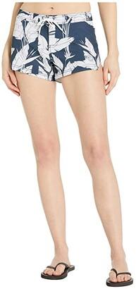 Roxy To Dye 2 Boardshorts (Mood Indigo Flying Flowers) Women's Swimwear