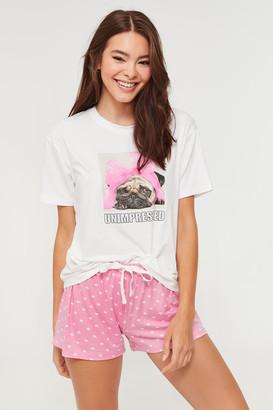 Ardene Pug Tee and Shorts PJ set