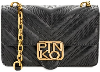 Pinko Quilted Leather Shoulder Bag