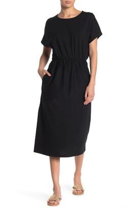 MelloDay Dolman Sleeve Elastic Waist Dress