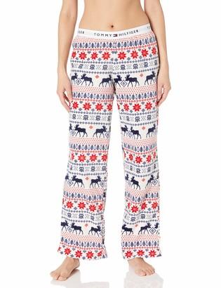 Tommy Hilfiger Women's Super Soft Minky Logo Lounge Pajama Pant