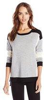 Design History Women's Merino Wool Colorblock Sweater
