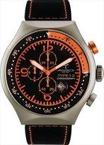 TP Men's 50 MM ORANGE Aluminum Case Black and Orange Dial Chronograph Tachymeter Date Watch