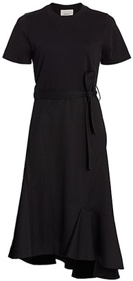 3.1 Phillip Lim Belted Wool T-Shirt Dress