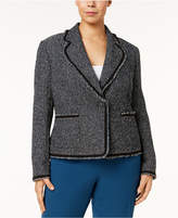 Anne Klein Plus Size Fringed Blazer