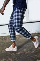 Dele Woven Jogger In Navy Check