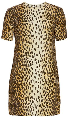R 13 Cheetah Print Shift Dress