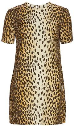 R 13 Cheetah Print Shift Dress