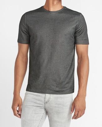 Express Swirl Dot Print Crew Neck T-Shirt