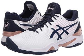 Asics Court FF 2 (White/Peacoat) Women's Volleyball Shoes