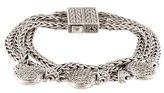 John Hardy Pavé Triple Strand Bracelet