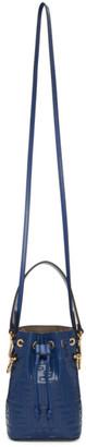 Fendi Navy Mini Forever Mon Tresor Bucket Bag