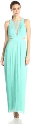 Aidan Mattox Aidan Women's Sleeveless Illusion Cutout Gown