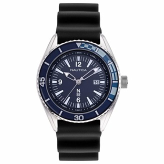 Nautica N83 Men's NAPUSA901 Urban Surf Black/Navy Silicone Strap Watch