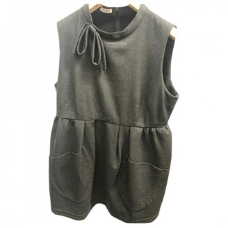 Miu Miu Anthracite Wool Top for Women