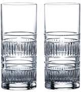 Royal Doulton Set of 2 R&D Radial Crystal Highball Glasses