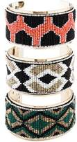 Etro Three Row Beaded Cuff