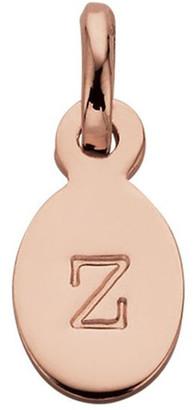 Mocha Initial Charm w/ 18K Rose Gold Vermeil - Z