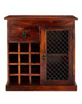 Fashion World Jaipur Sheesham Wood Wine Rack