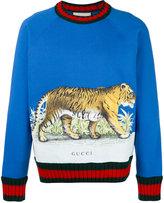 Gucci Tiger print sweater - men - Cotton/Wool - XS