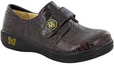 Alegria Joleen Tooled Pattern Stain-Resistant Leather Slip-Ons Clogs