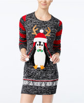 Hooked Up by IOT Juniors' Penguin Holiday Sweater Dress