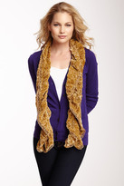 Betsey Johnson Flower Burnout Velvet Scarf
