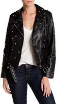 Vigoss Faux Leather Studded Moto Jacket