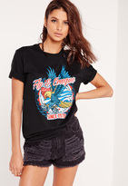 Missguided Eagle Rock T shirt Black