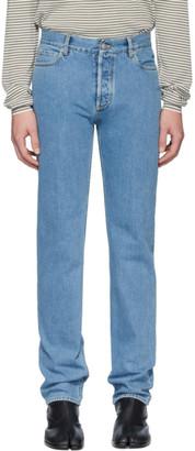 Maison Margiela Blue Stonewash Regular-Fit Jeans