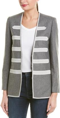 Zadig & Voltaire Ville Silver Bias Wool-Blend Jacket