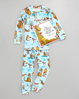 Books To Bed Knight and the Dragon Pajamas and Book Set, Sizes 8-10